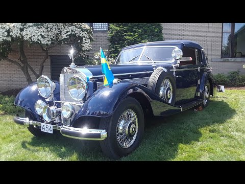 1938 Mercedes Benz 540K Cabriolet By Norrmalm  At the 2019 Elegance At Hershey