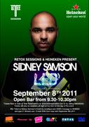 "Retox Sessions Proudly presents ""Sidney Samsons"""