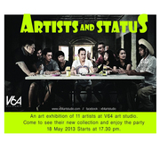 """นิทรรศการ """"Artists and status"""""""