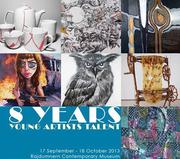 """นิทรรศการศิลปกรรม """"8 ปี ยุวศิลปินสร้างสรรค์งานศิลป์กับศิลปินแห่งชาติ"""""""