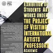 """นิทรรศการ """"ผลงานนักศึกษา โครงการศิลปิน"""""""