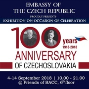 """นิทรรศการ """"100th Years Anniversary of Independence of Czechoslovakia"""""""