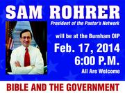 Sam Rohrer - the Bible and Government