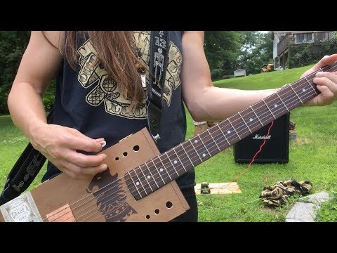 First 6 string cigar box guitar build
