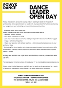 Dance Leader Open Day
