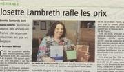 """Un article du """"Courrier de l'Escaut"""" sur Josette Lambreth (Chloe des Lys)"""