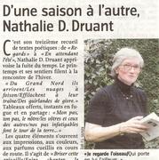 """Nathalie Druant dans """"Le Courrier de l'Escaut"""""""
