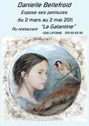 """Exposition  de peinture au restaurant """" La galantine """" Belgique"""