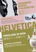 Helvetica. Porcelaine de Nyon à Mariemont