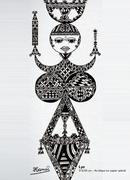 PAROLES TISSEES - Bannières inspirées des motifs berbères de Kabylie - oeuvres d'HAMSI Boubeker