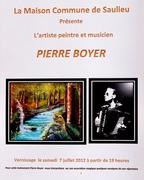 La Maison commune de Saulieu présente l'artiste peintre et musicien PIERRE BOYER