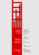 Galerie Monod expose Milija BELIC