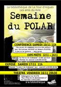 conférence sur le roman policier à la médiathèque de La Tour d'Aigues