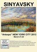 SINYAVSKY Dimitri à Artexpo New York City 2013