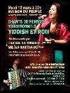 Chants de femmes traditionnels yiddish et rom