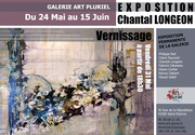 Exposition de Chantal Longeon Galerie Art pluriel Saint Etienne France