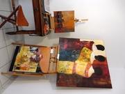 Exposition permanente a Marols village d'artistes 42 Fance