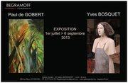 Finissage - 22 août - Exposition 'Peintures de Paul de Gobert & Sculptures d'Yves Bosquet' - 1er juillet > 6 septembre 2013