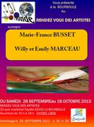 Marie-France BUSSET EXPOSE GALERIE  LE RENDEZ VOUS DES ARTISTES 63150 LA BOURBOULE