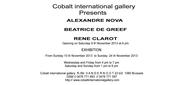 Exposition Galerie Cobalt
