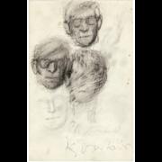 « Portraits » dessins de Gisèle Van Lange
