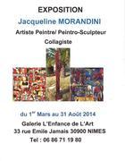 Jacqueline Morandini à la Galerie l'Enfance de l'Art à NIMES