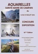 Exposition d'aquarelle des amis de Madame Campan