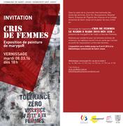 """Exposition """" CRIS de FEMMES."""