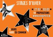 10 Stages d'Hiver en Cirque, Jeu, Clown, Mouvement & Danse @l'Espace Catastrophe