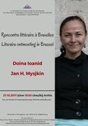 Rencontre littéraire à Bruxelles: Doina Ionid et Jan H. Mysjkin