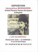 """Jacqueline Morandini Exposition """"Les Célébrités"""" à Nîmes"""