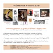 Éditeur local et sa cuvée 2018