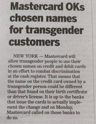 "Mastercard ""True Name"""