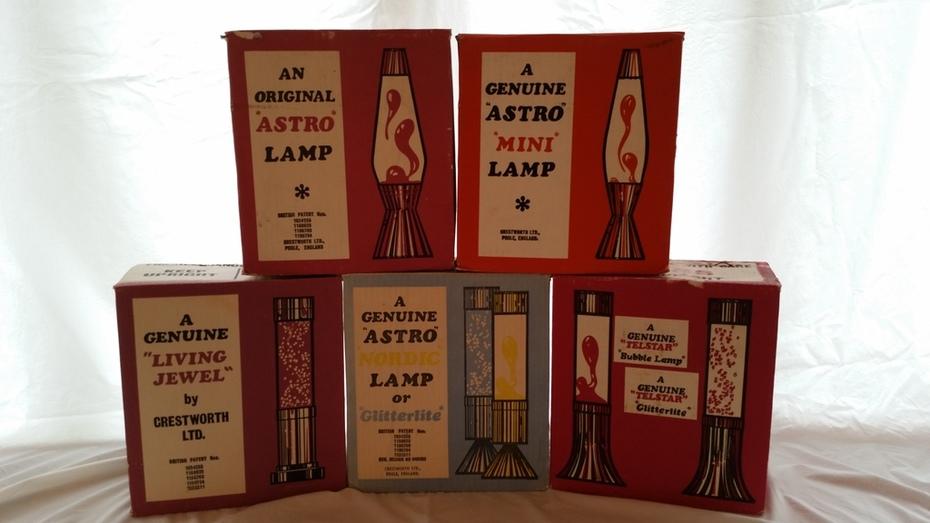 Crestworth Astro, Astro Mini, Astro Nordic Deluxe Living Jewel, Astro Nordic, Telstar. Boxes