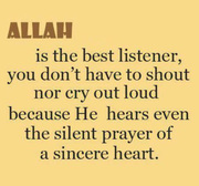Allah is the best listener