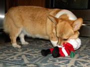 he was mad at santa ... lol.