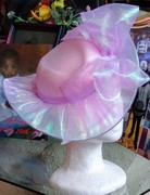 Pink See-Through Satelitte Hat (Side)