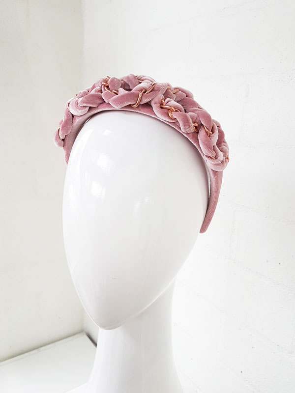 Dusty-pink-5-loop-velvet-chain-headband-5