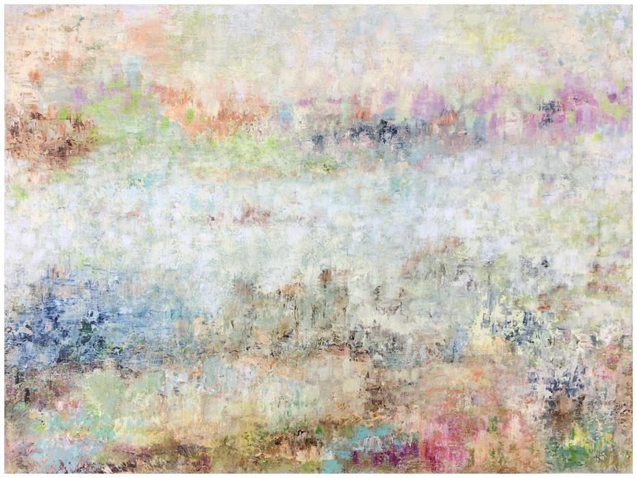 Atmosphäre, Mischtechnik, 60 x 80 cm