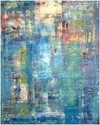 Helga Sassenberg -Am Fluß - Öl, Leinwand auf Keilrahmen, 100 x 80 x 4 cm