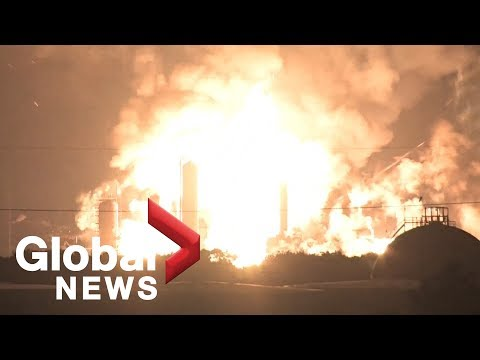 Massive fire and explosions rock Philadelphia oil refinery