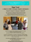 """Stage Vocal """"Aimer se relier à Soi pour chanter autrement"""""""
