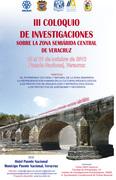 III Coloquio de Investigaciones Sobre la Zona Semiárida Central de Veracruz