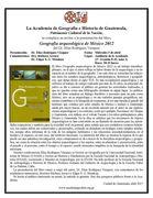 PRESENTACION DEL LIBRO GEOGRAFIA ARQUEOLOGICA DE MEXICO 2012