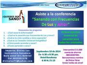 """Conferencia """"Sanando con Frecuencias de Luz y Amor"""""""
