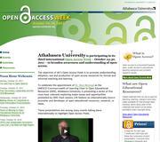 Athabasca University Open Access Week, October 24-30, 2011.