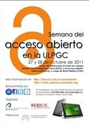 Open Access Week 2011 at the University of Las Palmas de Gran Canaria (ULPGC)
