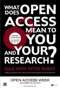 Open Access Q&A with Peter Suber at Boston U