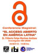 Conferencia Magistral: Dr. Filiberto Felipe Martínez Arellano - Open Access Week