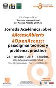 Jornada Académica sobre Acceso Abierto: paradigmas teóricos y problemas prácticos
